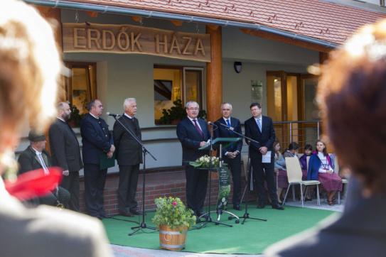 Erdők Hete megnyitó, beszédet  mond Fazekas Sándor miniszter